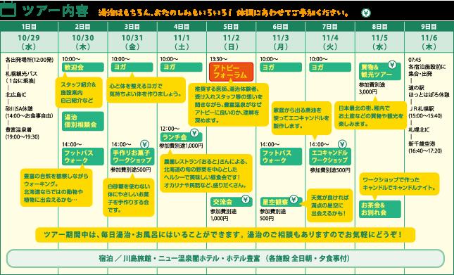 ツアーの日程