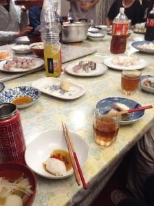 湯の花ミーティング 寿司パーリー