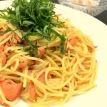 トマトと鮭のパスタ